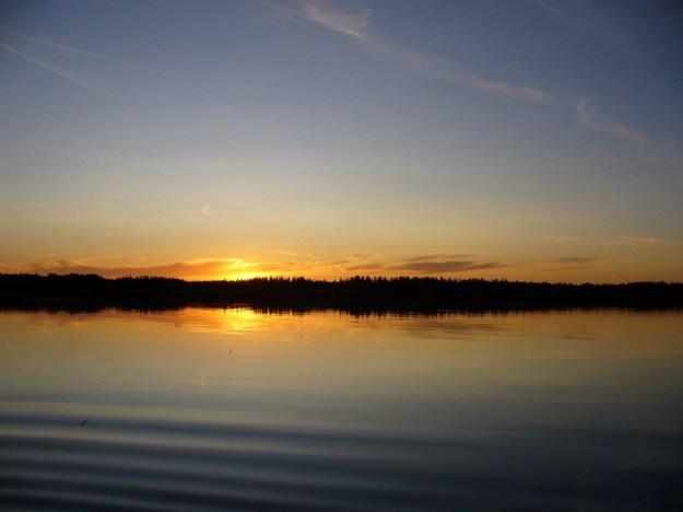 abends am snipe lake